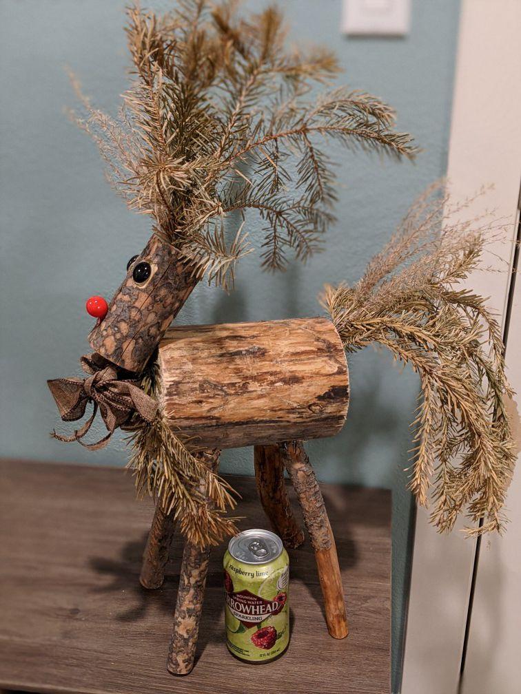 Christmas Elk Decor made of Wood