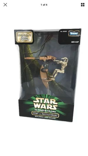 Star Wars POTF (Power of the Force) COLLECTION: Stap + Battle Droid (Episode I Sneak Preview Edition) Authentically Styled Action Figure by Kenner for Sale in Las Vegas, NV