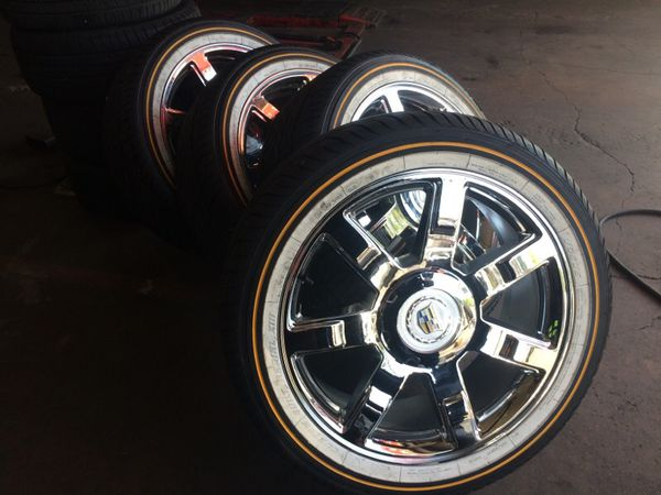 285/45/22 Vogue Tires & 22inch Cadillac Rims For Sale In
