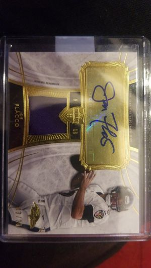 Joe flacco football card Signed for Sale in Germantown, MD