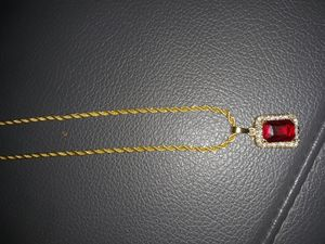 18k gold plated chain and pendant for Sale in Houston, TX