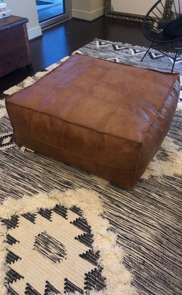 Admirable Cb2 Leather Ottoman For Sale In Austin Tx Offerup Dailytribune Chair Design For Home Dailytribuneorg