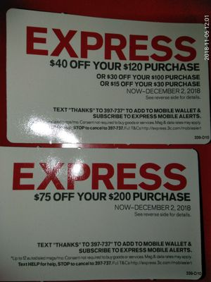 Express coupons for Sale in Boston, MA