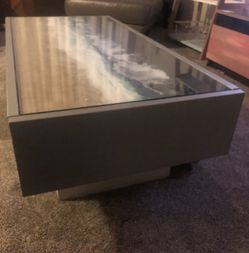 Beach Resin Coffee Table With Glass Cover Thumbnail