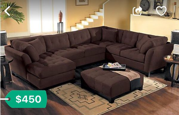 Cindy Crawford Metropolis 4 Pc Sectional Couch Love Seat