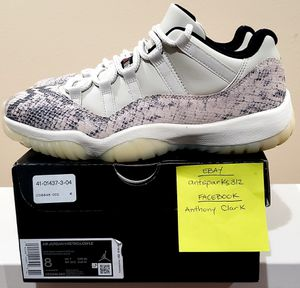 Photo Nike Air Jordan Retro 11 Low Light Bone Snakeskin (CD6846-002) (SIZE 8)