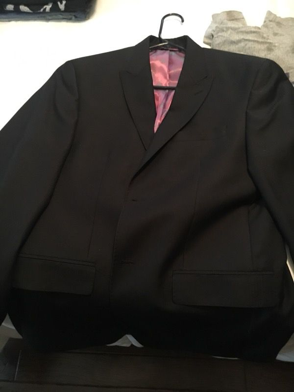 f53f4f58a Sean John Sports coat suit jacket black Large for Sale in Whittier