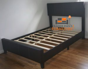 Brand New Queen Size Brown Leather Platform Bed Frame (5 Color Options) for Sale in Silver Spring, MD