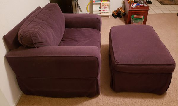 Phenomenal Oversized Chair And Ottoman For Sale In Elk Grove Ca Offerup Evergreenethics Interior Chair Design Evergreenethicsorg