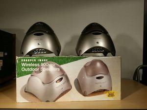 Sharper Image Outdoor Wireless Speakers(set of 4) for Sale in Richmond, VA