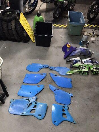 Rare Blue Plastics Kawasaki Kx 125 Kx250 500 For Sale In Riverside