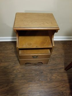 Wooden night stand Thumbnail