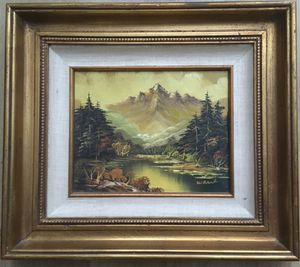 Mid Century Original Oil on Canvas Landscape Signed Painting Wall Art for Sale in San Diego, CA