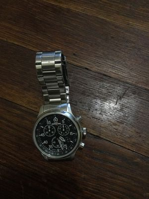 Round silver chronograph watch with link bracelet for Sale in Washington, DC