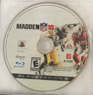 Madden 2010 for PS3 for Sale in Houston, TX