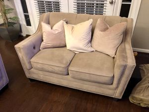 Beige Couch and Loveseat for Sale in Chantilly, VA