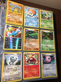 (Not sold as lot - sold by page) Pokemon vintage Pokémon cards Thumbnail