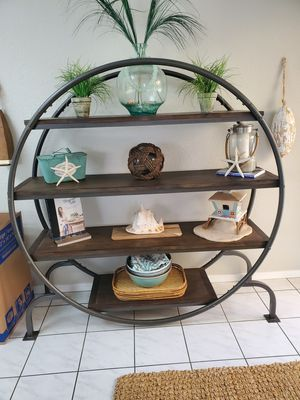 Photo World Market metal and wood shelf