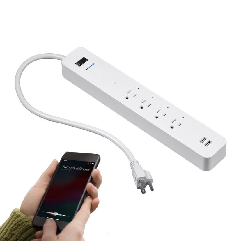 Wireless WiFi Smart Power Strip, 4 Individually Controlled Outlets, 2 Always-On USB Ports