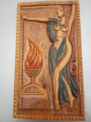 LOCAL DC artist wood Goddess carving wall art for Sale in Rockville, MD