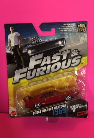 Fast & Furious Dodge Charger Daytona 1969 Fast & Furious 6 New Mattel for Sale in Las Vegas, NV