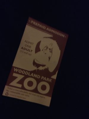 Adult Prepaid zoo ticket for Sale in Seattle, WA