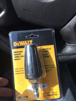 Dewalt! Pressure washer TURBO SPRAY NOZZLE for Sale in Silver Spring, MD