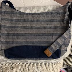 Retro Metro Hobo Bag in Woven Stripe Thumbnail