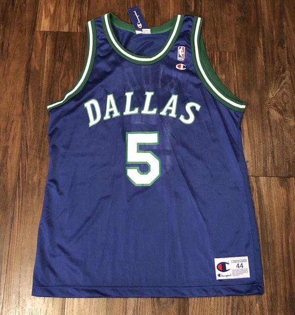 b13300911e4 Vintage 90s Jason Kidd Dallas Mavericks Jersey Retro Throwback Sz 44 Mens