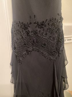 Absolutely Stunning Sue Wong Silk Mid Length Black Gown  Thumbnail