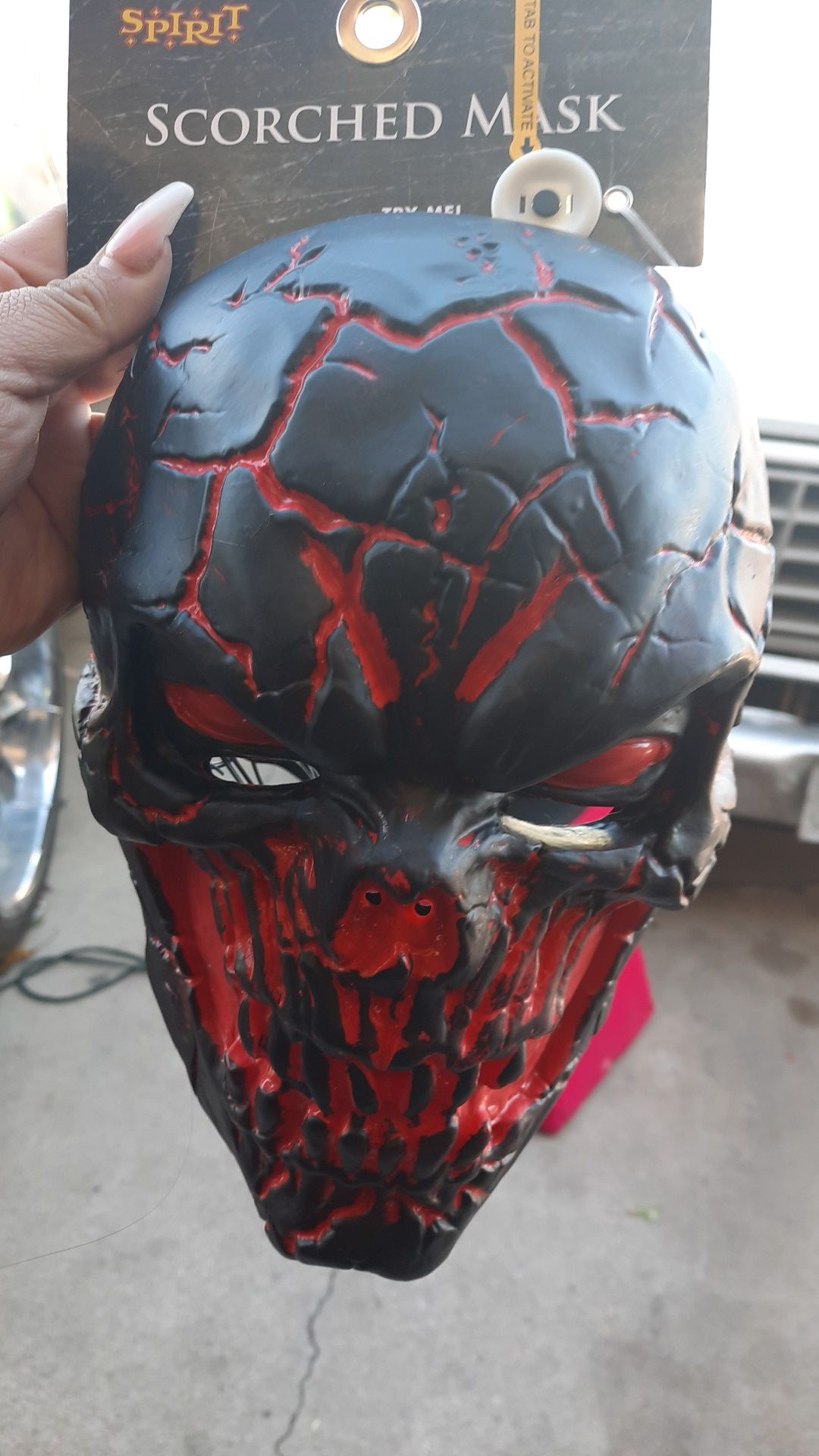 Led scorched mask