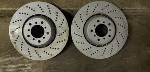 [NEW] 2004-2010 BMW S85 V10 E60 M5 M6 ZIMMERMANN 2 FRONT BRAKE DISCS ROTORS CROSS DRILLED AND CERAMIC COATED MADE IN GERMANY NON RUST for Sale in Los Angeles, CA