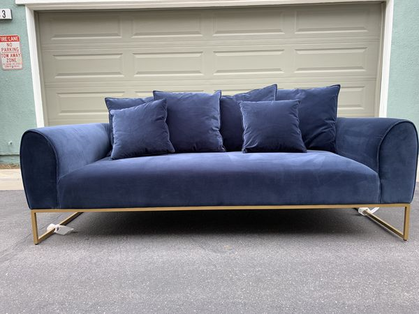 Mid-Century Modern Blue Velvet Sofa by Article Furniture for Sale in  Covina, CA - OfferUp