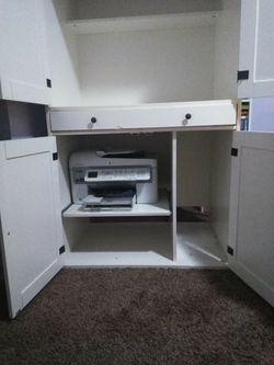 Ikea White Computer Armoire Thumbnail