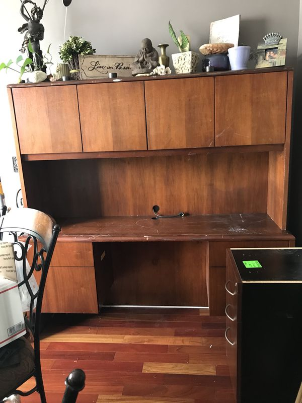 National Furniture Company High End Wood Office Receptionist Secretary Desk