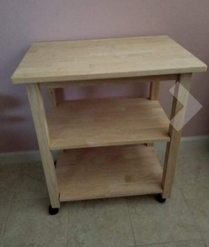 New!! Microwave cart, rolling kitchen cart, kitchen storage cart, kitchen counter, kitchen island for Sale in Tempe, AZ