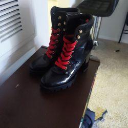 Size 7 (Women's) Pleather Boots Thumbnail