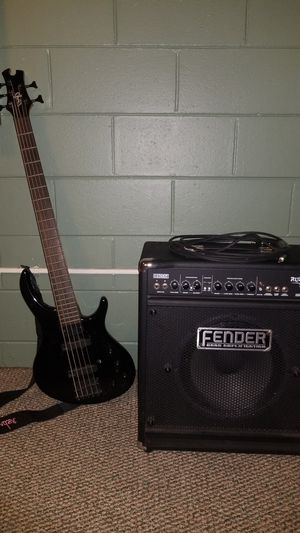 5 string bass guitar and amp for Sale in Deltona, FL