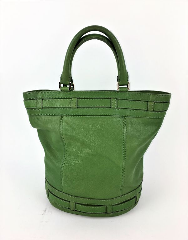 8a3d61a7b7ea MICHAEL KORS KINGSBURY GREEN LEATHER BELTED BUCKET for Sale in Las ...
