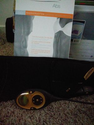 Slendertone abs remote controlled ab toner complete workout for all the ab muscles for Sale in Raleigh, NC