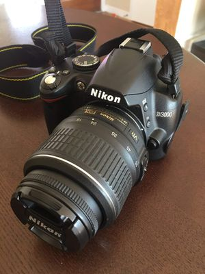 Nikon D3000 with extras for Sale in Eugene, OR