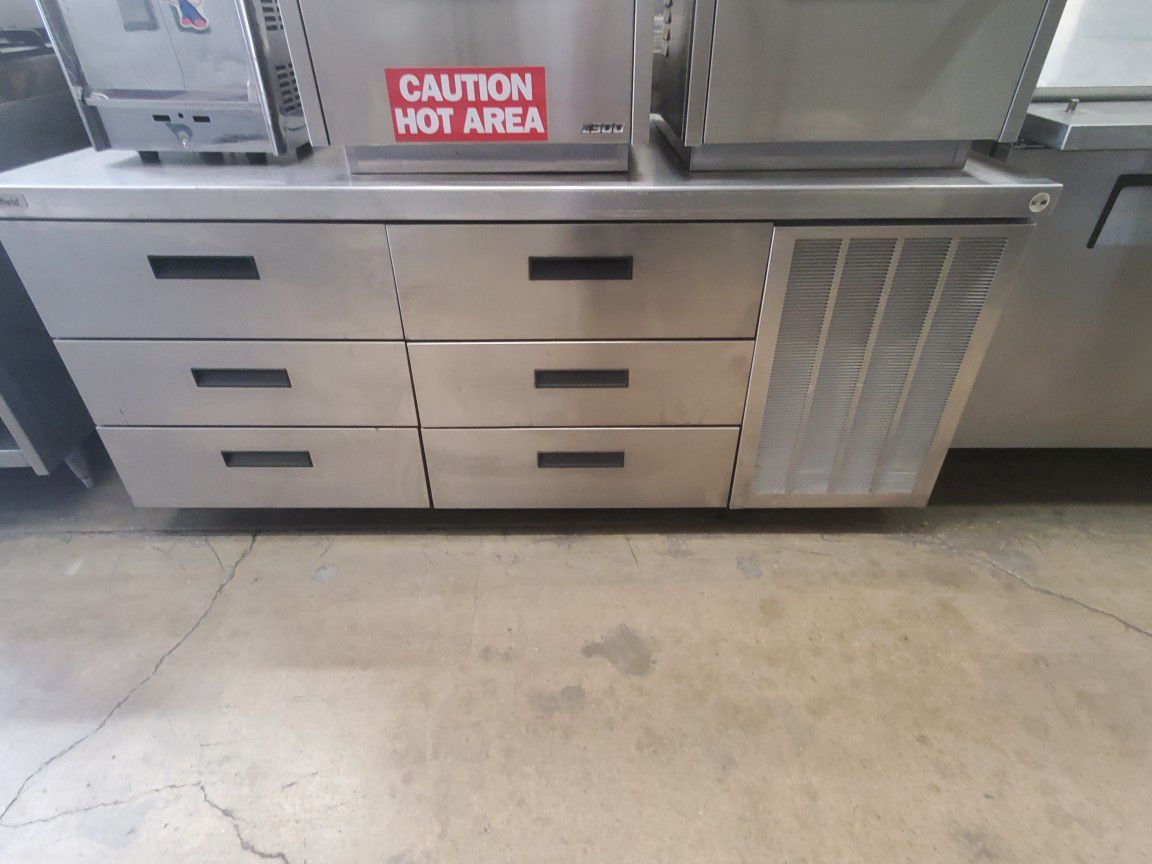 """Delfield 6 Drawer Work Table 72"""""""