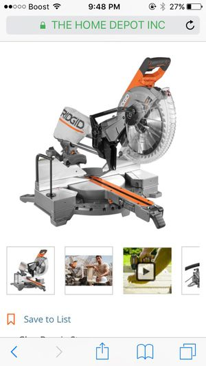 RIDGID 15 Amp 12 in. Corded Dual Bevel Sliding Miter Saw with 70° Miter Capacity for Sale in Glen Burnie, MD