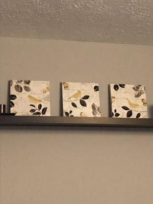3 small yellow bird paintings for Sale in Germantown, MD