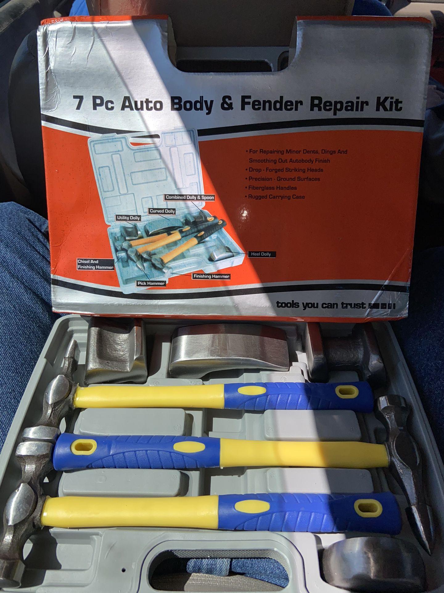 NEW 7pc auto body repair hammer set