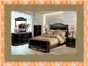 Black bedroom set new with free shipping. for Sale in Rockville, MD