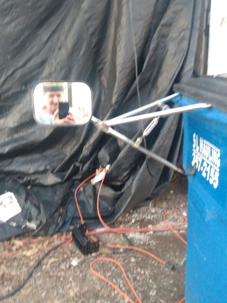 Photo Clamp On Extension Mirrors For Pulling Big Campers,5th Wheels,and Oversized Loads