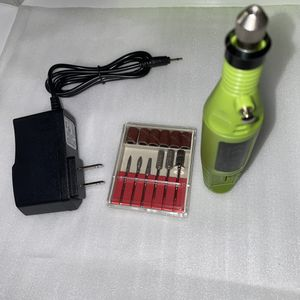 Photo Electric acrylic nail file drill new lime green
