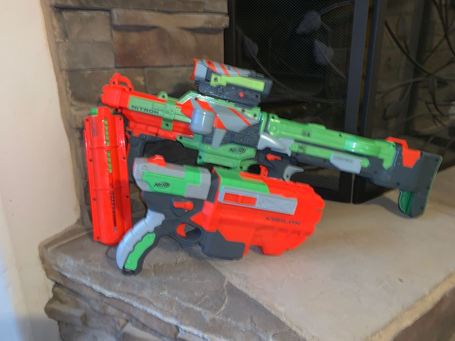 Nerf Vortex: Nitron and Vigilon...check out my account lots of nerf guns for sale