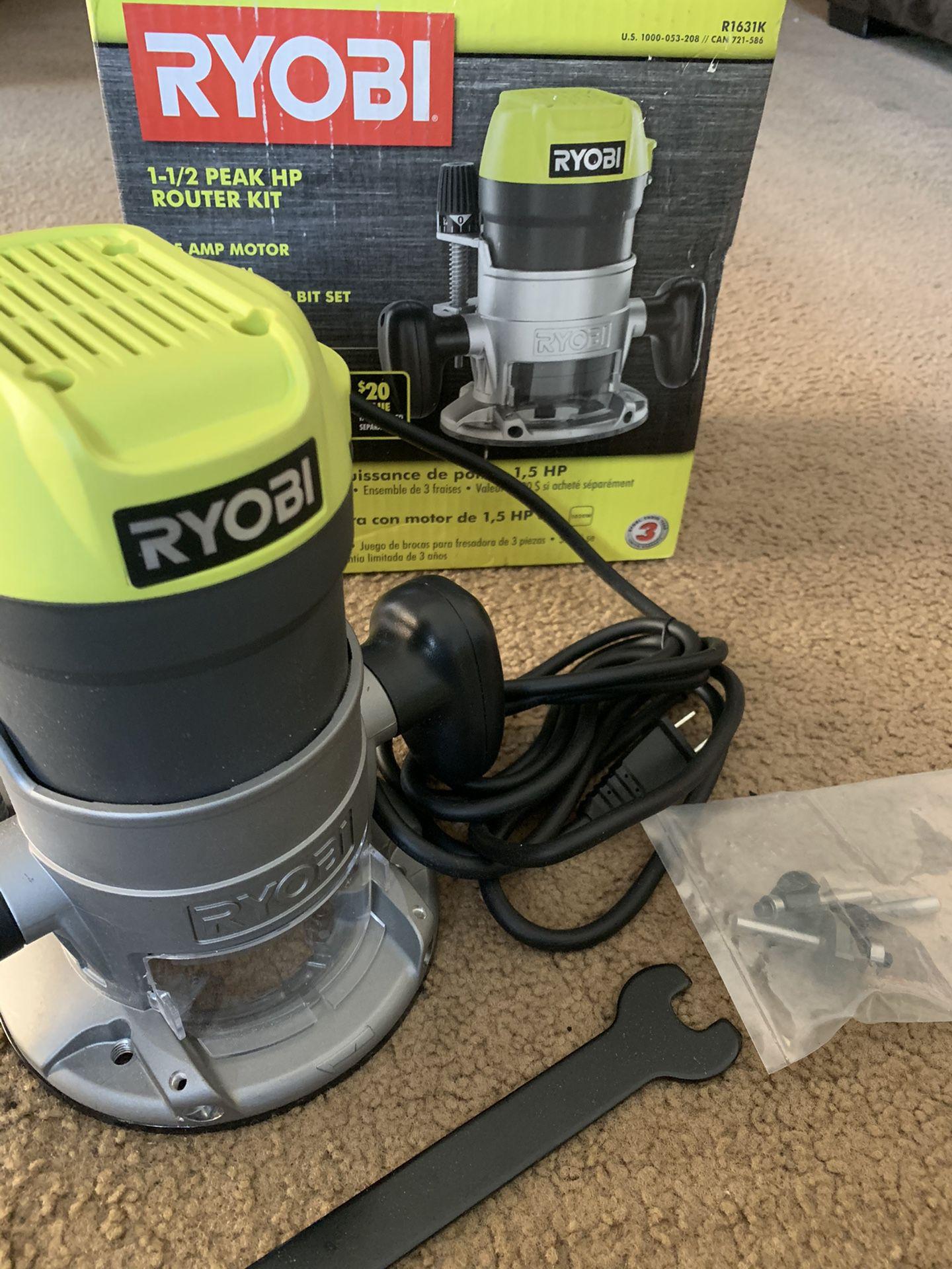 RYOBI 8.5 Amp 1-1/2 Peak HP Fixed Base ROUTER